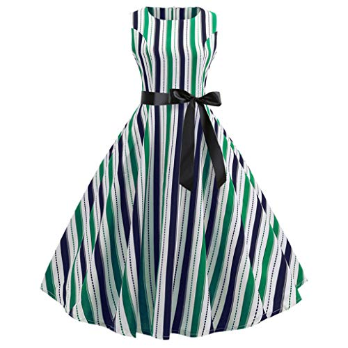 Qmber Retro Cocktailkleid Rockabilly Faltenrock Jumpsuit Kurz Ballkleid Kleiderbügel Damenkleider Kurz Hepburn Kleid -