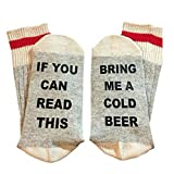 Bring Me some Wine/Beer/Coffee Letter Print Casual Ankle Socks ,Qlan Soft unisex Sock Cotton Funny Couples Crew Socks