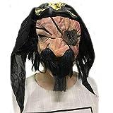 SCLMJ Halloween Terror Maske Single Augen Schal Zombie Latex Maske Spukhaus Erschreckende Requisiten