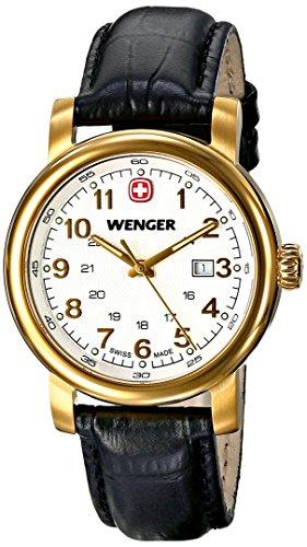 Wenger 011021109 Montre bracelet Femme, Cuir, couleur: noir