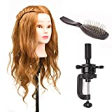 "22"" 80% Real Human Hair Hairdressing Training Head Dummy Head Salon Head +"