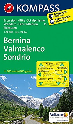 Bernina - Valmalenco - Sondrio 1 : 50 000