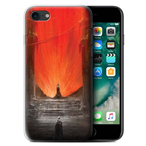 Offiziell Chris Cold Hülle / Gel TPU Case für Apple iPhone 7 / Der Anrufer Muster / Dunkle Kunst Dämon Kollektion Hohe Königin