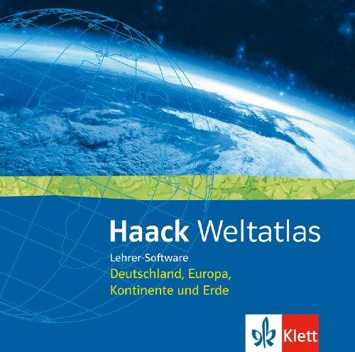 Haack Weltatlas für Sekundarstufe I und II. Lehrer-Software Deutschland, Europa, Kontinente und Erde