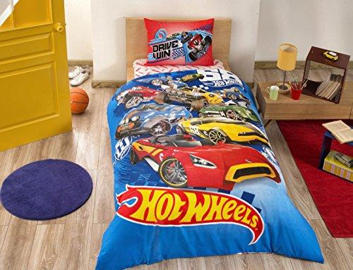 100-cotone-per-bambini-hot-wheels-bedding-set-copripiumino-set-bambini-auto-hot-wheels-letto-singolo