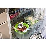 Xavax Analoges Thermometer (Aufhängen im Kühlschrank, Gefrierschrank, Tiefkühltruhe, Weinkühlschrank, Minibar, min. -30 Grad, max. +50 Grad, rund) weiß -