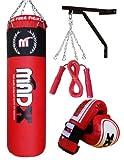 MADX - Juego de boxeo con saco de piel...