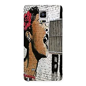 Girl Singing Wall Back Case Cover for Galaxy Note 4
