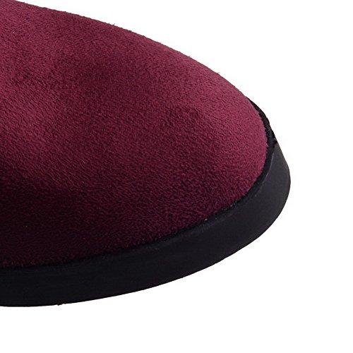 Vinoso Stivali Rosso Alto Tacco Donna Agoolar Tira Rotondo Alti yf8Sq