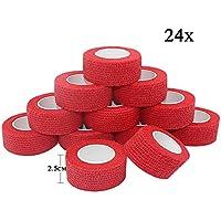 STpro Selbstklebender Verband Tape Fixierverband Selbsthaftende Bandage Tape Haftbandage 2,5cm x 24 Stück Rot... preisvergleich bei billige-tabletten.eu