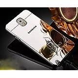 Samsung Galaxy Note 3Funda de Espejo, Ultra Thin Aleación de aluminio metal enchapado electroplate Bumper Panel Trasero Carcasa rígida para Samsung Galaxy Note 3, metal, plata, Samsung Galaxy Note 3