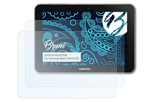 Bruni Samsung Galaxy Tab 8.9 LTE Folie - 2 x glasklare Displayschutzfolie Schutzfolie für Samsung Galaxy Tab 8.9 LTE
