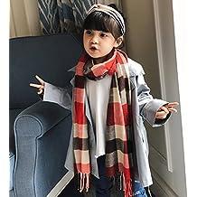 AGVBTQXZF Los niños Bufanda Gruesa Larga Moda Salvaje a Cuadros Cuello  imitación cálido Chal 63d65283355