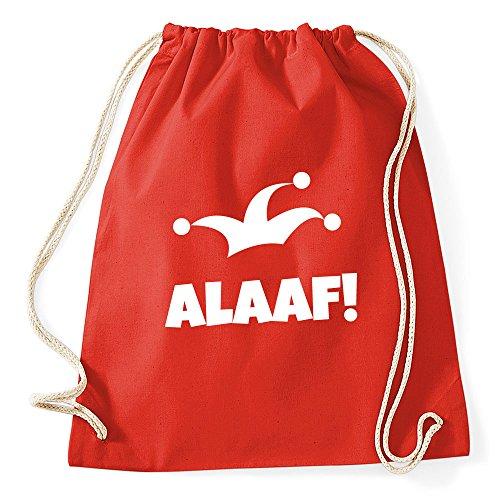 """(Partybob Fasching-Rucksack """"Alaaf"""" - Tasche für Karneval (A - Rot))"""