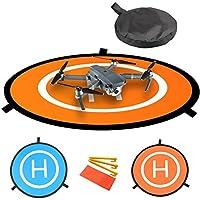 "30 ""/ 75cm de diámetro Impermeable Fast-Fold RC Helicopter Landing Pad Helipad 2 lados para RC Drones Helicóptero DJI Mavic Pro, Phantom 2/3/4/4 Pro, Inspire 2/1, 3DR Solo, Parrot, Antel Robotic, Syma, Hubsan , Holy Stone, UDI, azul y naranja"