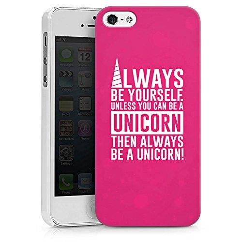 Apple iPhone X Silikon Hülle Case Schutzhülle Einhorn Unicorn Sprüche Spruch Statement Hard Case weiß
