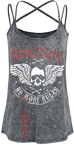 Rock Rebel by EMP Do What You Want Girls Top Grey