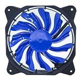 EASYDIY PWM 120mm blau LED Silent Fan für PC-Gehäuse, CPU-Kühler und Radiatoren Flüsterleise Hohe Airflow Computer Case Fan, Twin Pack