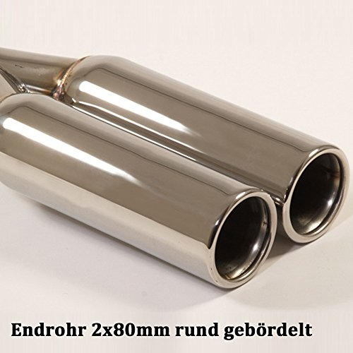 Friedrich Motorsport Gruppe A Anlage Sportauspuff mit Endrohr 2x80mm rund gebördelt 961318-4