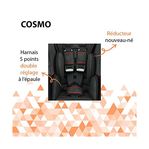 Nania Cosmo Group 0+/1 Infant Car Seat, Pink nania Forward and rear facing car seat Side impact protection Harness sleeves and quick release buckle 7