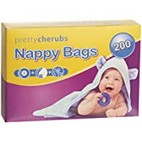 BABY NAPPY SACKS X 200 FRAGRANCED PINK AND WITH TIE