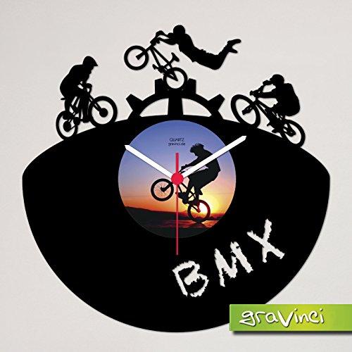 Gravinci.de Schallplatten-Wanduhr BMX