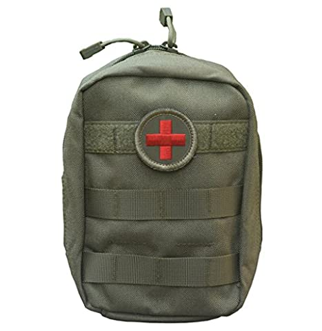 Qearly Multifunktional First Aid Kit Erste Hilfe Set Erste Hilfe Tasche-Army Green