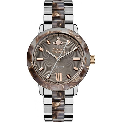 Vivienne Westwood Women's Quartz Watch with Grey Dial Analogue Display and Grey Stainless Steel Bracelet VV165BRSL