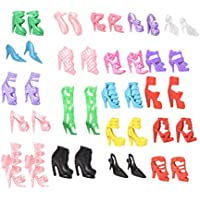 Isuper 40Pares de Zapatos Tacón Alto Diverse Botas Accesorios para Muñeca Barbie
