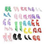 Isuper 40 paia di scarpe tacco alto diverse stivali accessori per bambola Barbie