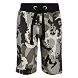 A2Z 4 Kids® Kids Shorts Girls Boys Camouflage Print Cotton Chino Shorts - A2Z Camo Shorts Charcoal - 11-12 Years