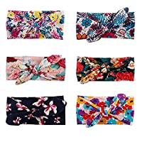 6pcs Baby Headbands Turban Knotted Girl's Hairbands for Newborn Toddler Children 6 Pack