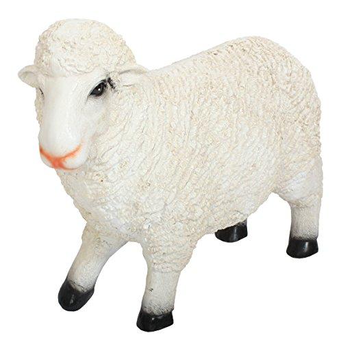derrys A1509 Petit Mouton debout en résine Figure- Blanc