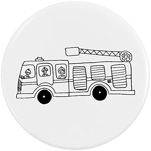 Azeeda 58mm \'Feuerwehr\' Pin Knopf-Abzeichen