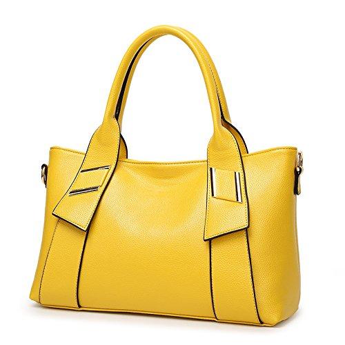 Mefly Nuova Donna Borsetta Europei E Americani Del Fashion Borsa A Tracolla Giallo yellow