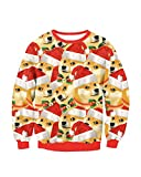 Damen 3D Gedruckt Ugly Christmas Sweater Coole Weihnachten Pullover Rundhals T-Shirt Stil 21 M