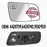 CarJoy 650320 Außenspiegel Beheizbar Glas Spiegelglas Rechts Beifahrerseite OEM 6428739 6428740 9130908
