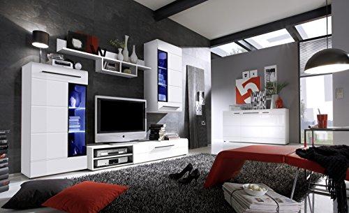 Wohnwand SKIN TREND hochglanz weiß inkl. LED - 3