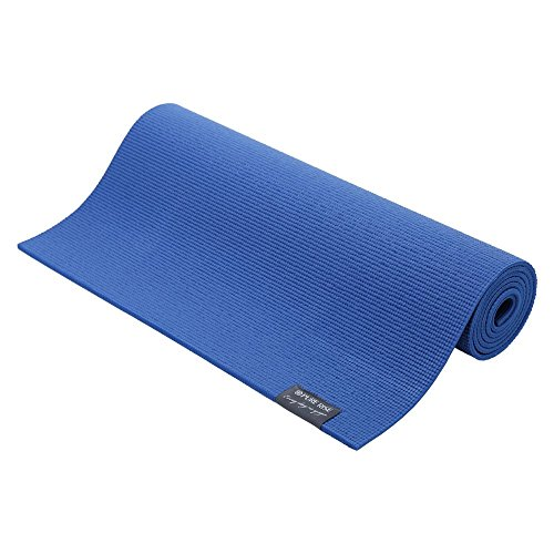 PURE RISE Yoga mat 183 cm x 61 cm x 6 mm, Yogamatten Fittness, Yoga, Hot Yoga (Dark Blue)