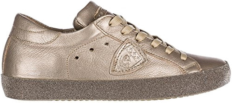 Philippe Model scarpe da ginnastica Paris Donna Metal Champagne | A Basso Costo  | Scolaro/Ragazze Scarpa