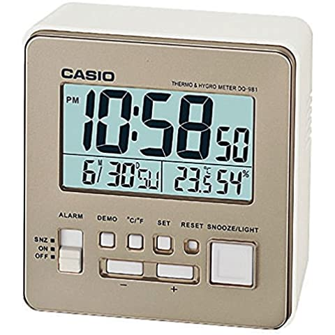Casio DQ-981-9ER - Despertador (LCD, AA / LR6 x 2, Capuchino)