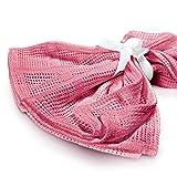Lumaland Baby Baumwolldecke Erstlingsdecke schadstofffrei perfekte Größe für Säuglinge 100% Baumwolle 75 x 90 cm Pink