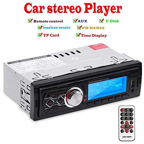 TENLSO Voiture Stéréo BT 4.0, Voiture FM Récepteur Radio Lecteur MP3 Écran LED, Appel Mains Libres avec Prise en Charge de la télécommande AUX/USB/SD/télécommande - 178 * 108 * 50mm - 12V