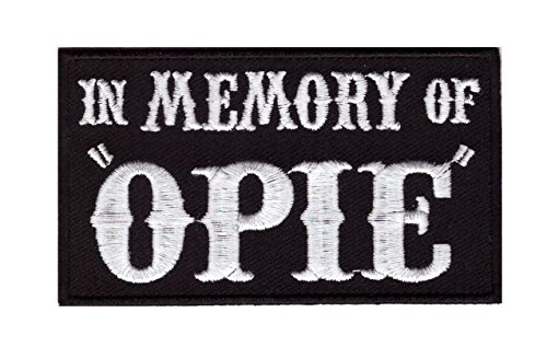 In Memory of Opie Outlaw Embroidered Biker Patch Iron