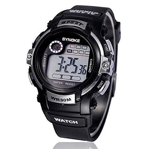 Bestow LED Digital Alarma de Cuarzo Reloj Deportivo intemporal Fecha  Deportes Reloj de Pulsera Impermeable Rojo 38506bef9d91