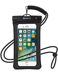 Wasserdichte Hülle Handyhülle NineUp,Verkaufsschlager in japan,Schweben im Wasser, Unterstützung der fingerabdruck freischalten,Universal Handy case Tasche mit Umhängeband für iPhone 7/ 6 / 6S, 7 / 6 / 6S Plus SE 5S, Samsung Galaxy S6 / S7 Edge, Note 5, Huawai Xiaomi HTC LG Sony Nokia Motorola(bis zu 6 Zoll)