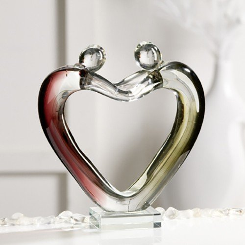 Escultura Family de cristal de tipo de vidrio figura Top