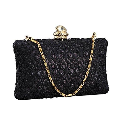 Neue Diamant-Abendessen Tasche High-End-Kupplungs-Hochzeitstasche Mode-Handtaschen Black