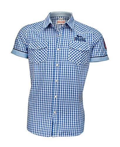 Lonsdale London Herren BERNY Slim Fit Shirt, Shortsleeve, Navy/Ice, M -