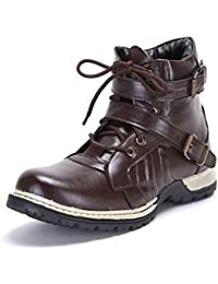 Freedom Daisy Men's Dark Brown Faux Leather Boots